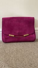 Pollini Suede Pink Bag with Chain Strap