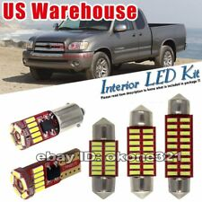 9-pc White Deluxe LED Interior Lights Package Kit Fit Toyota Tundra 2000-2004
