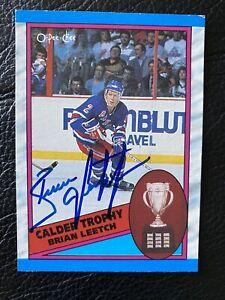 Hof Brian Leetch New York Rangers Legend Signed Hockey card