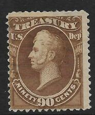 United States #O113 90c. Perry Treasury Official Stamp MHR APS Certificate