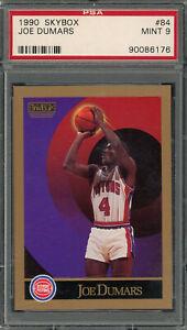 Joe Dumars Detroit Pistons 1990 Skybox Basketball Card #84 Graded PSA 9 MINT