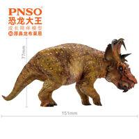 PNSO Pachyrhinosaurus Figure Ceratopsidae Animal Dinosaur Collector Decor Model