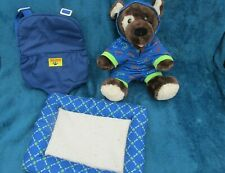 "Build-A-Bear Workshop 15"" 4 piece Dog Teddy/clothes Bundle great Christmas Gift"