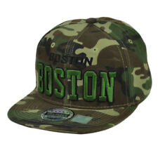 Boston Massachusetts Camouflage Pattern Camo City Town Flat Bill Snapback Hat Ca