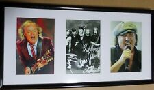 AC/DC RARE HAND SIGNED FRAMED PICTURES ANGUS YOUNG COA PHOTO