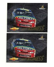 LOT OF 2 - 1997 JEFF GORDON PINNACLE CHEVY MADNESS INSERT CARDS #15 - BV $24