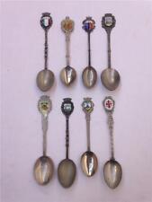 Lot of 8 Vintage Italy Souvenir Collector Spoons