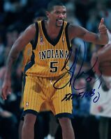 Jalen Rose Signed Autographed 8x10 Photo INDIANA PACERS NBA Star COA AB