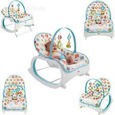 Fisher Price Infant to Toddler Rocker, Kick Stand Baby Rocker, Geo Diamonds New