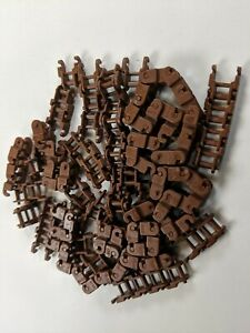 x100 LEGO Reddish Brown Technic Link Chain Link  Pieces tank Tread Track