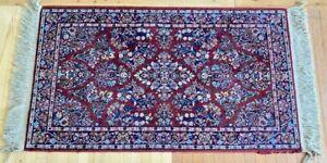"2'10""x 5' Karastan Red Sarouk 785 Design Clean undamaged 100% Wool USA BEAUTIFUL"