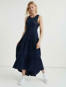 new LUCKY BRAND sooo soft ruched waist tiered midi dress L 1x