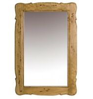 X LARGE Country Vintage Ornate Solid Fruit Wood Rectangle Wall Mirror NEW 90cm