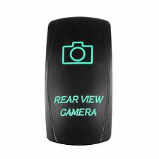 5 Pin GREEN LED Rear View Camera Laser Rocker Switch ON/OFF Light 20A 12V