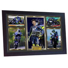 Valentino Rossi photo autograph print signed photo FRAMED VALENTINO ROSSi