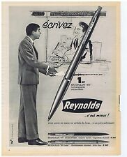 PUBLICITE ADVERTISING 104 1962 REYNOLDS stylo à bille
