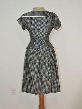 1950-60's Polka Dot 2PC Dress Peplum Top SM