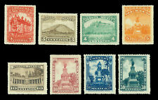 MEXICO 1923  PICTORIALS - no watermark set  - Scott# 634-641 mint MH