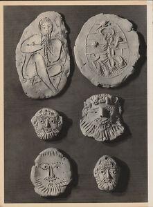 PABLO PICASSO - ceramic  * HELIOGRAVURE - VERVE 1951   faces