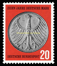 EBS Germany 1958 10th Anniversary of the Deutschmark DM Michel 291 MNH**