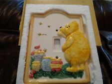 "Ceramic 5"" x 6 1/2"" Winnie the Pooh & Honey Pot Light Switch Cover"