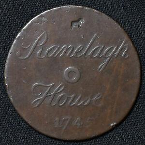 1745 Ranelagh House, Chelsea, London, AE Uniface Pass/Token, W1337, D&W 80/251