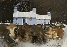 Original watercolour painting 'Welsh cottage' Ready for a 10 x 8inch frame