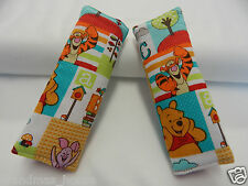 Baby Seat Belt Strap Covers Child Car Chair Stroller - Pooh And Friends Aqua