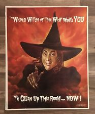 Vintage The Wizard Of Oz Wicked Witch Of The West Clean up this Room Poster