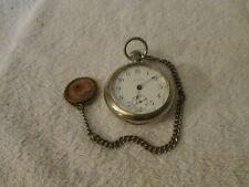 Vintage Waltham 15 Jewel Pocket Watch Nickel Finish # 14824880