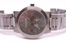 NWT Burberry The City Gunmetal Grey Stainless Steel Men's Watch BU9902