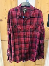 Timberland Earthkeepers Red Check Lumberjack Shirt Size XL Slim Fit