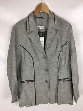 ULLA POPKEN Leinen Anzug, Größe 44, Grau, 100% Leinen
