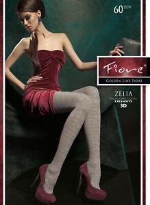FIORE Zelia Luxury 60 Denier Super Fine Microfibre 3D Patterned Tights