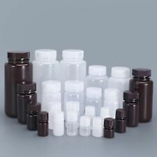 Wide Mouth Bottle Refillable Container Food Grade Plastic Reagent Bottles Supply