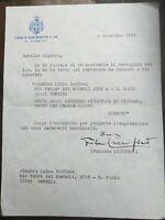1971 254) LETTERA MINISTRO LUCIFERO AD AMANTE GABRIELE D'ANNUNZIO LUISA BACCARA