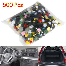 500 Pcs Mixed Car Push Pin Door Trim Panel Clip Fastener Bumper Rivet Retainer