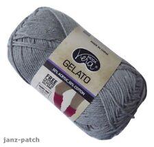 5 X 50g - Moda Vera Gelato 4ply Knitting Crochet Yarn Cotton Acrylic Grey #02