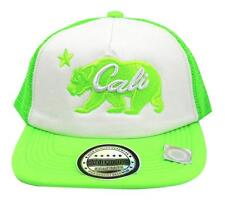 NEW UNISEX BASEBALL HAT CAP ADJUSTABLE SNAPBACK SWAG CALI BEAR GREEN ONE SIZE