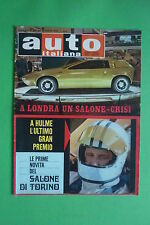 Auto Italian 44/1969 Salon London Mexico Gp Fiat 124 Coupe' Lancia HF Fulvia