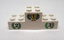 Lego Siegerpodest weiß bedruckt Kranz grün 2 Steine aus Set 1199 6327 6617