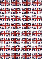 Waterslide Decal A4 Sheet RC Model Car Plane UK Wavey Union Jack Flag 1-32 Scale