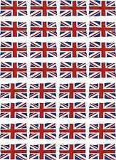 Hoja de calcomanías tobogán avión RC Modelo Coche A4 Reino Unido Ondulados Bandera Unión Jack Escala 1-32