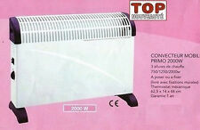 RADIATEUR SOUFFLANT CONVECTEUR MOBILE THERMO 2000W TURBO NEUF 05