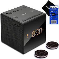 Sony Alarm Clock with Gradual Wake Alarm, Extendable Snooze, AM/FM Radio