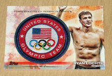 2012 Topps Olympics Commemorative U.S. PATCH Ryan Lochte Swimming