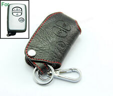 Leather Remote Shell Case Smart Key Holder Bag For Toyota Protective Chain 3BT 3