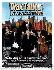 Wax Tailor 2009 Portland Concert Tour Poster-Trip Hop