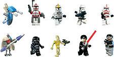 Lego Star Wars Charakter Ausschnitte x 10 Wandkunst (Packung Stil B)