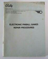 Bally Pinball Electronic Repair Procedures Manual 1980 Original Game Repair